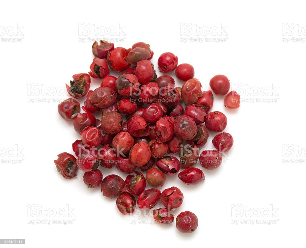 pink peppercorns stock photo
