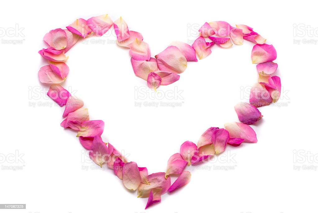 Pink petal heart royalty-free stock photo