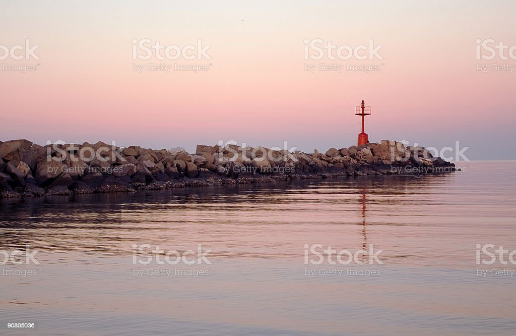 pink pier royalty-free stock photo