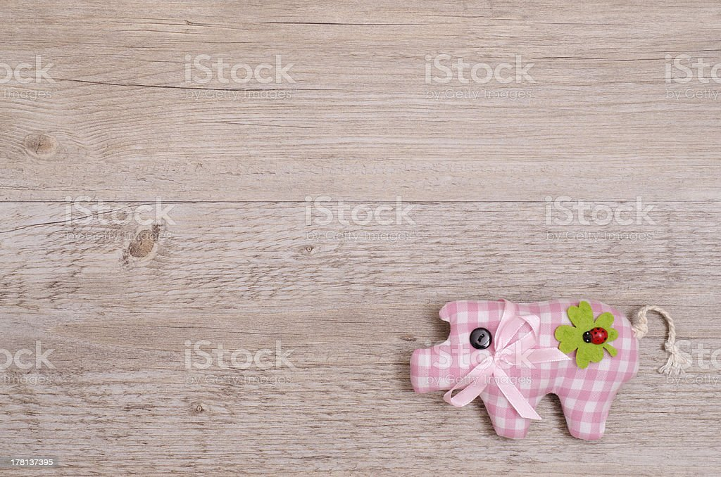 Pink pig as lucky charm royalty-free stock photo