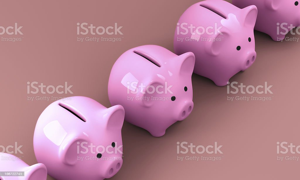 Pink Piggy Bank 3D Render 003 royalty-free stock photo