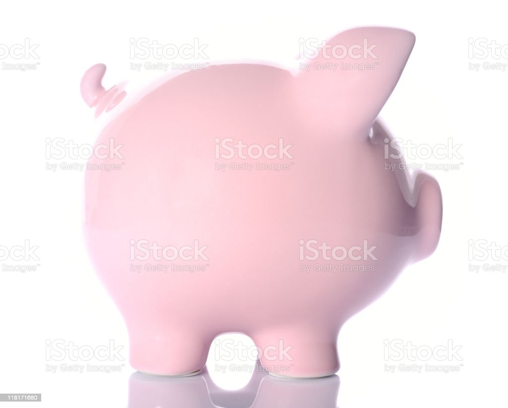 Pink piggy bank royalty-free stock photo