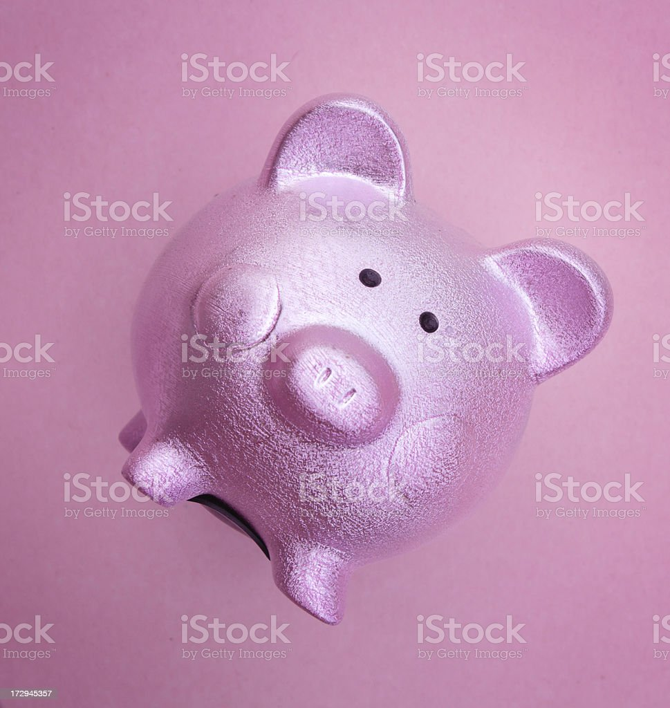 Pink Piggy Bank royalty-free stock photo