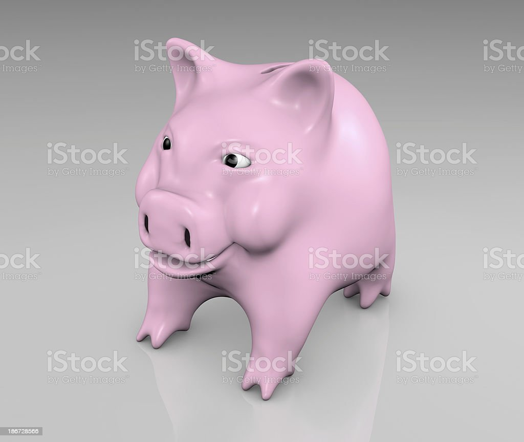 pink piggy smiling royalty-free stock photo