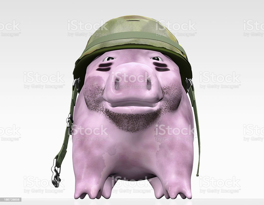 pink piggy wants to give orders royalty-free stock photo