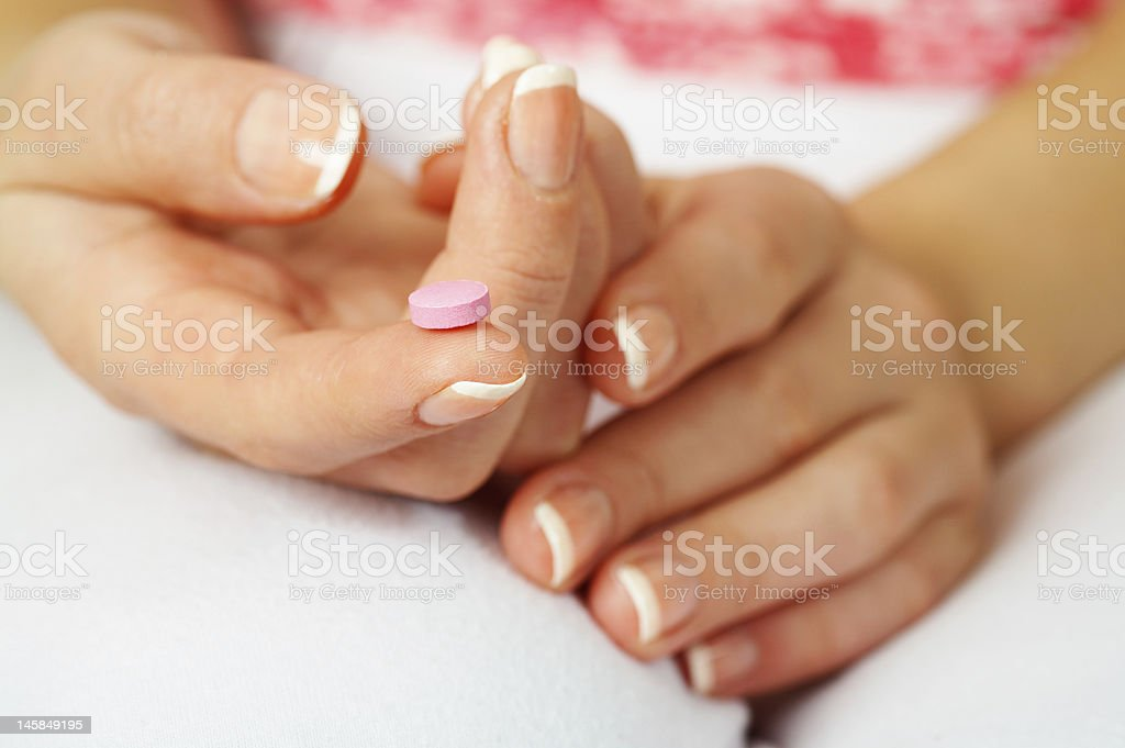 pink pill royalty-free stock photo