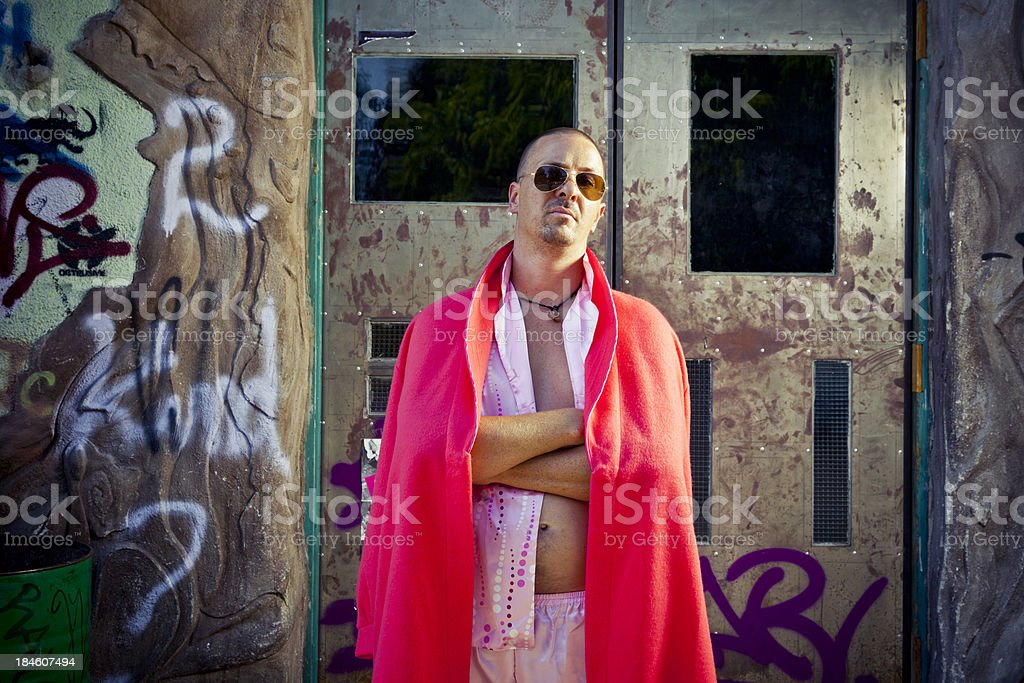 Pink Pimp king of the slums royalty-free stock photo