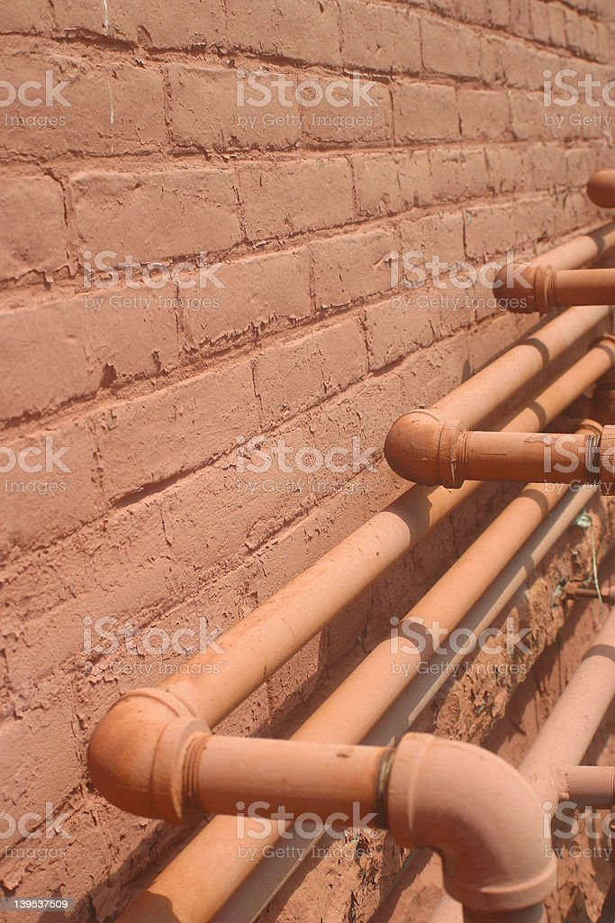 Pink Pipes royalty-free stock photo