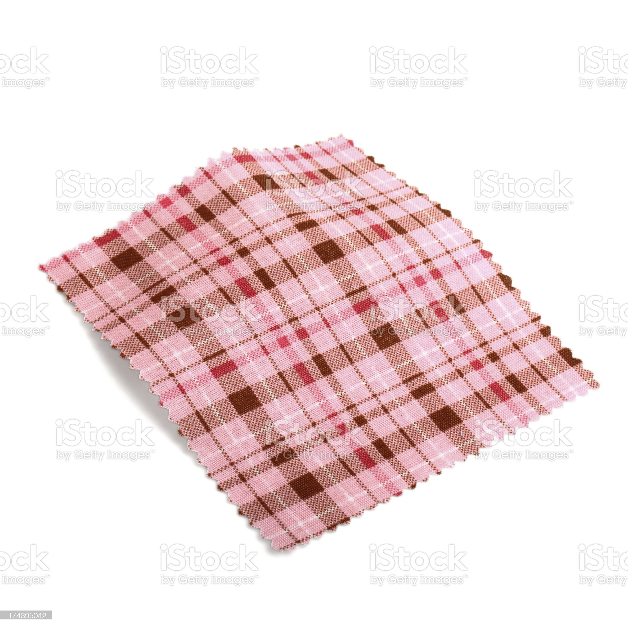 Pink Plaid Pattern Fabric Swatch royalty-free stock photo