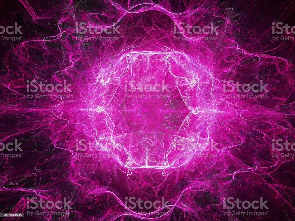 Pink plasma object in space royalty-free stock photo