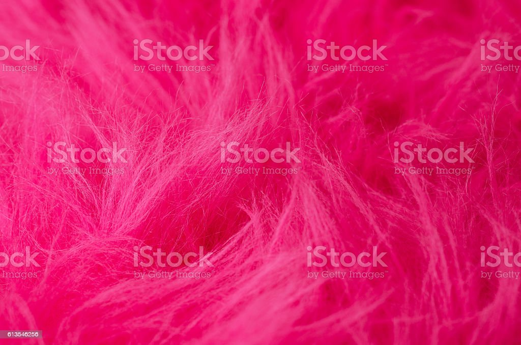 Pink plush fabric horizontal stock photo