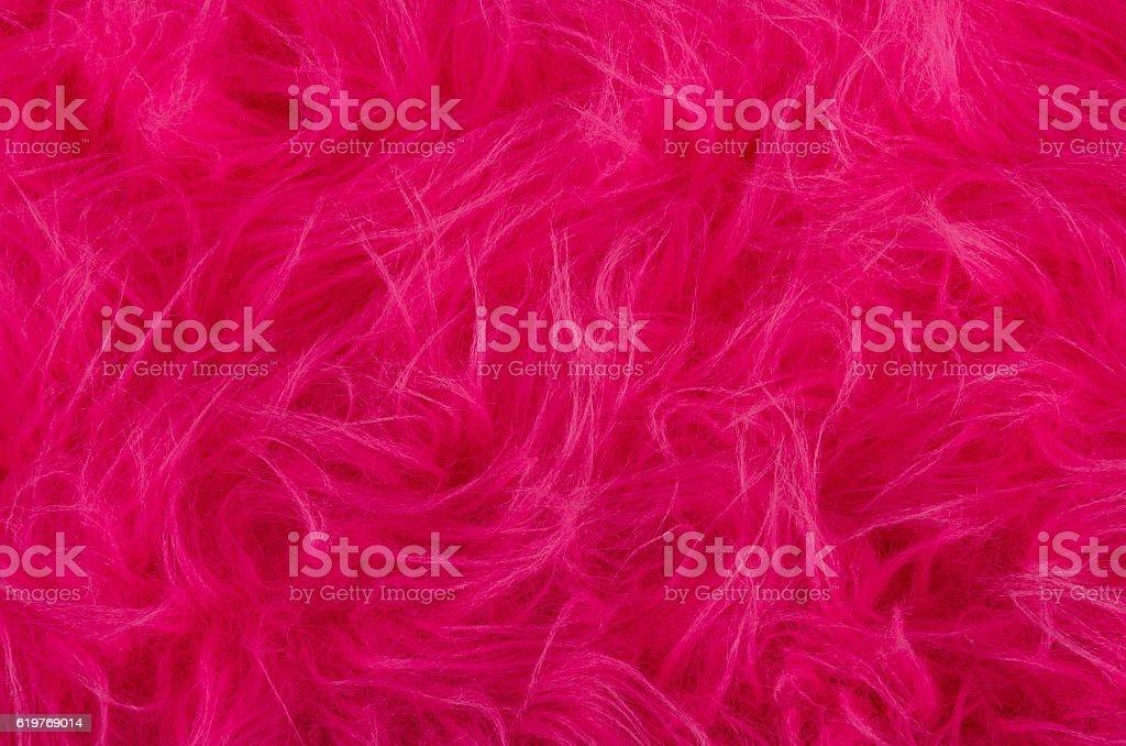 Pink plush fabric stock photo