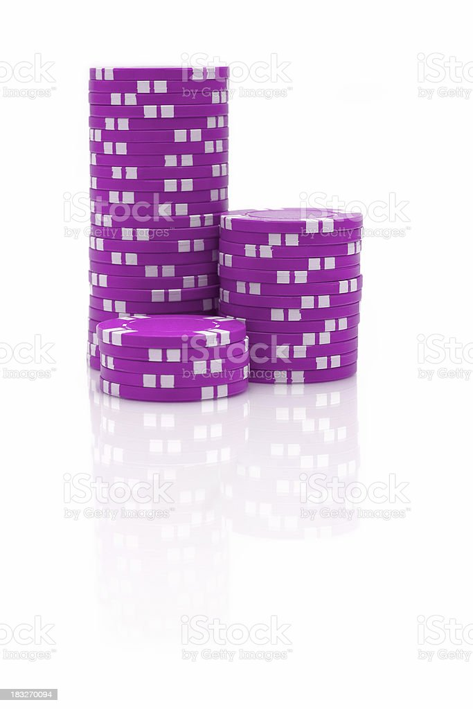 Pink Poker Chips stock photo