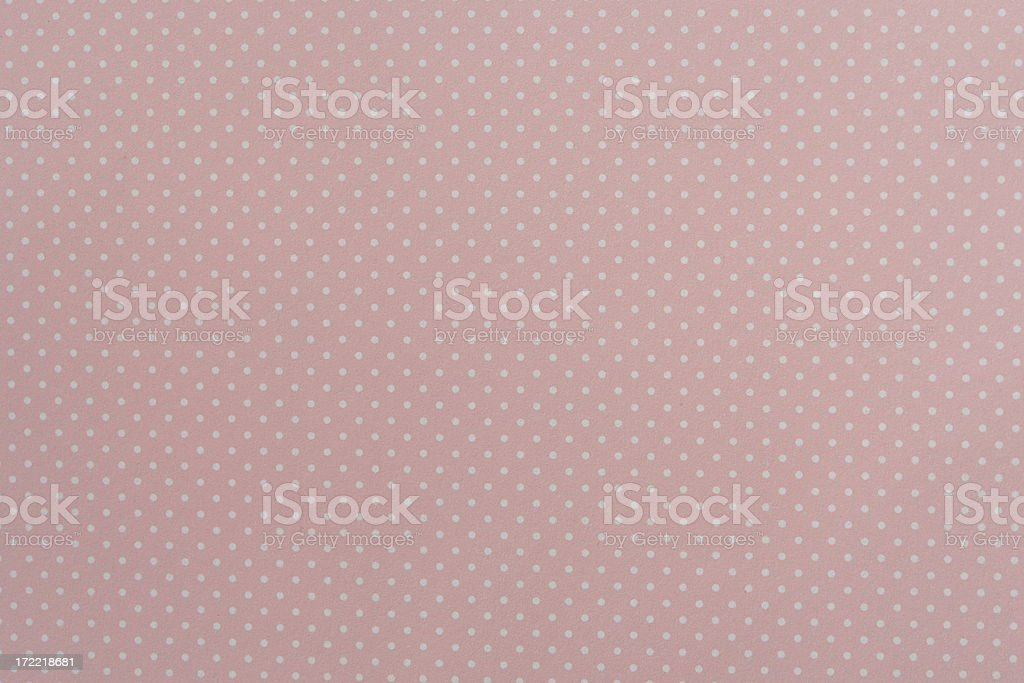 Pink Polka Dot Paper Texture royalty-free stock photo