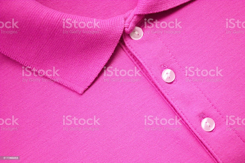 Pink Polo T-shirt. stock photo