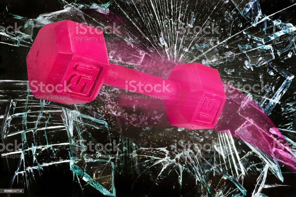 Pink Power. stock photo