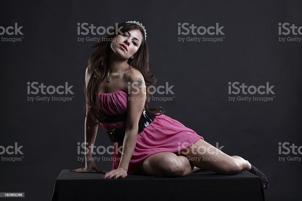 pink princess royalty-free stock photo