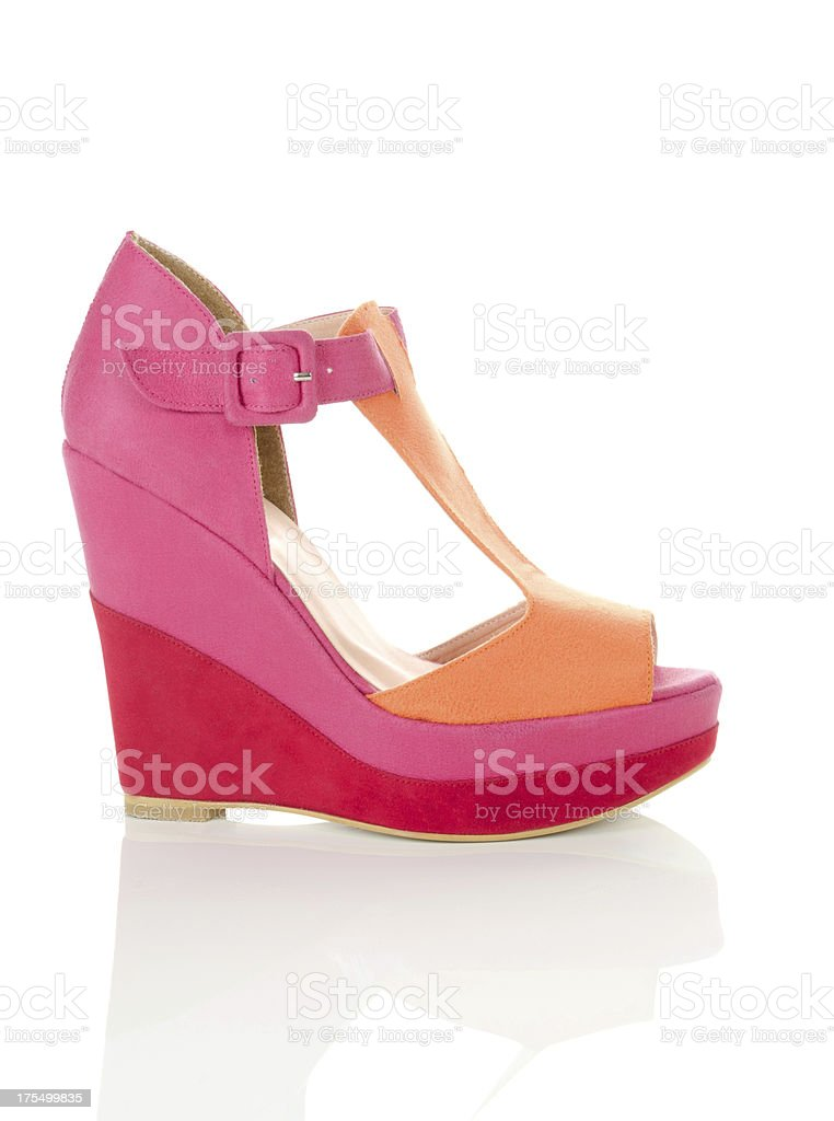 pink pump shoe stock photo