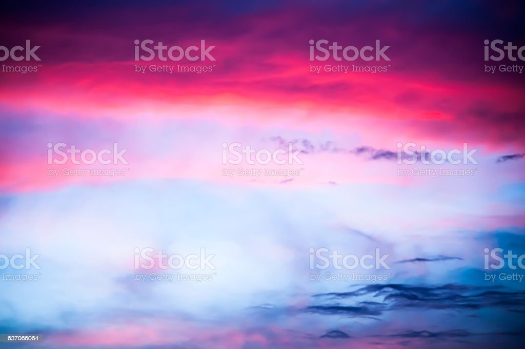 Pink, purple, mauve, lavender, indigo soft sky stock photo