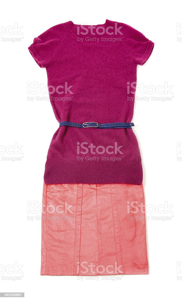 Pink purple still life fashion composition stock photo