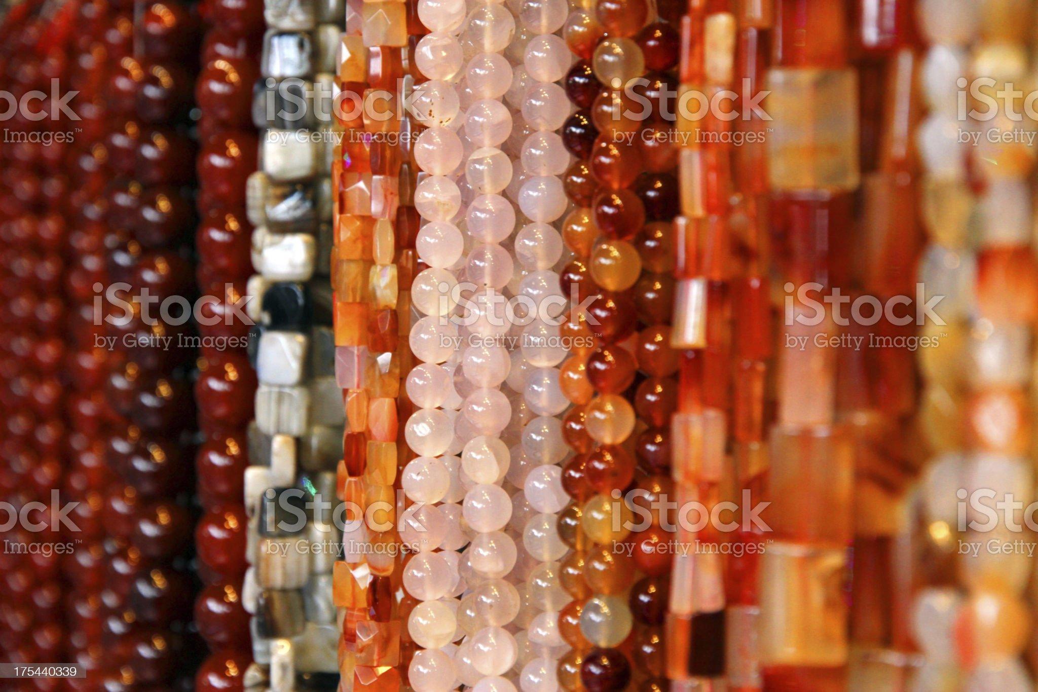Pink Quartz Beads royalty-free stock photo