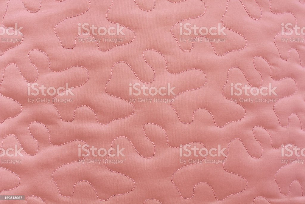 Pink Quilted Fabric stock photo