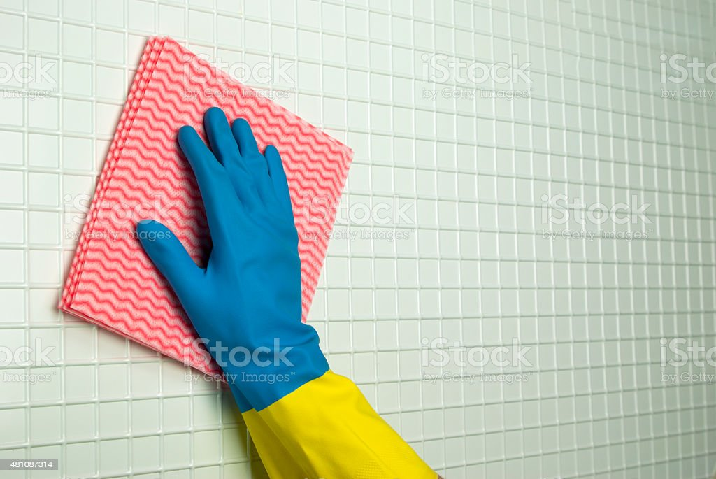 pink rag to clean royalty-free stock photo