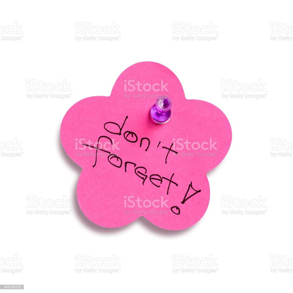 Pink reminder stock photo
