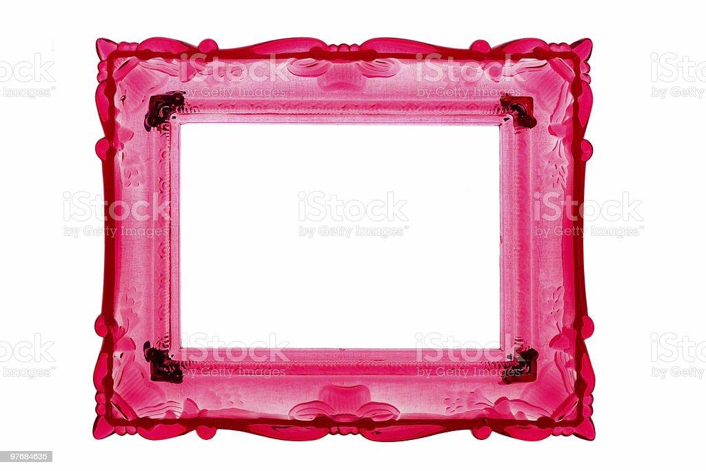 pink retro frame stock photo