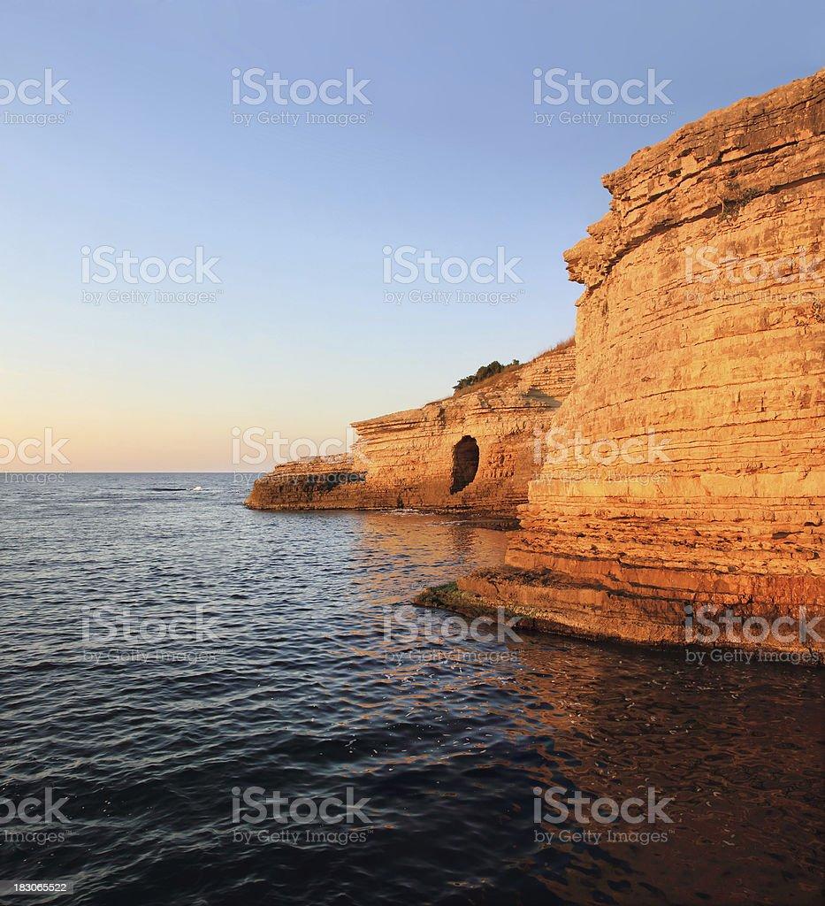 Pink rocks royalty-free stock photo