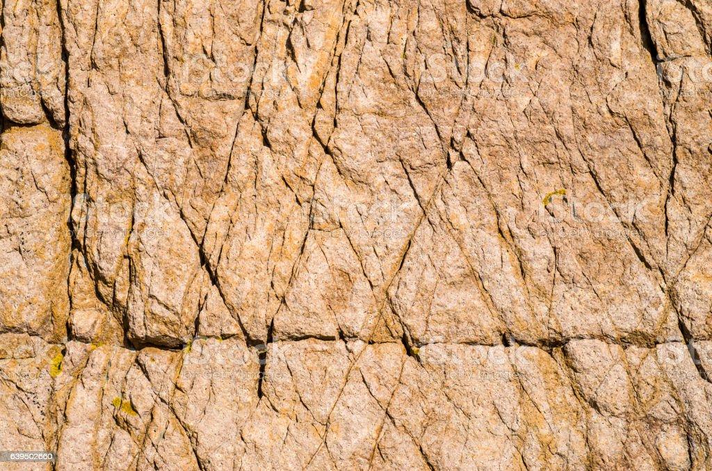 Pink rough granite in nature stock photo