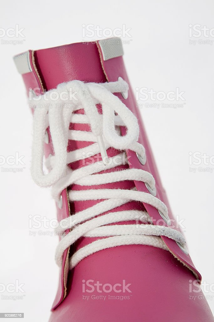 Pink rubber boot royalty-free stock photo
