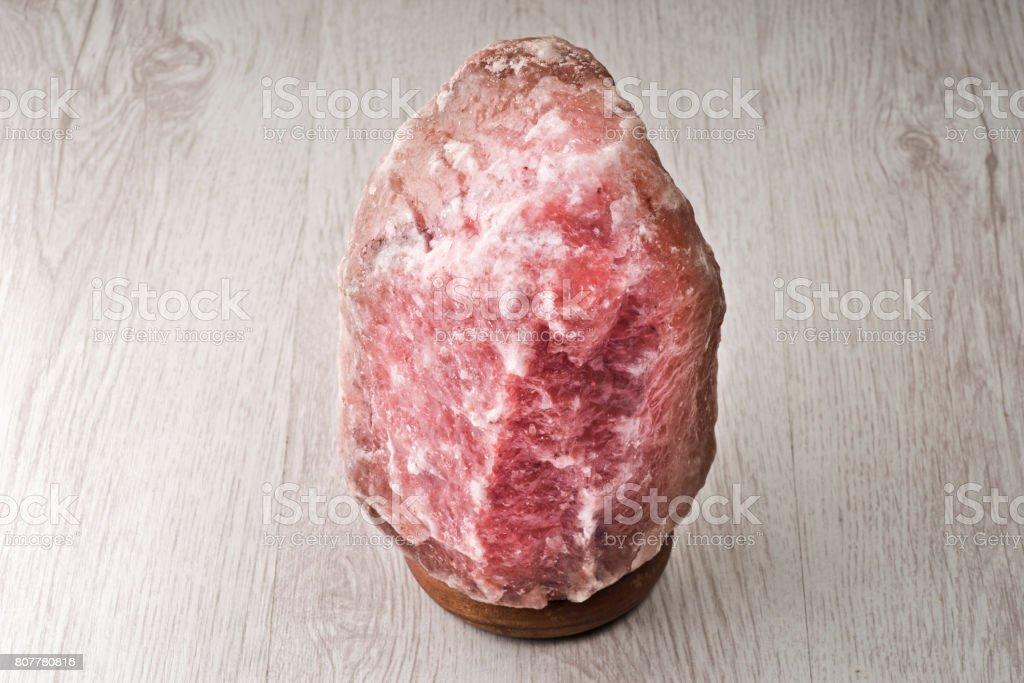 Pink salt lamp stock photo