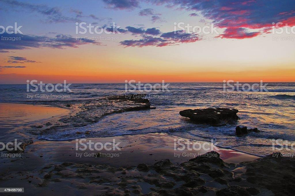 Pink San Diego Skies stock photo