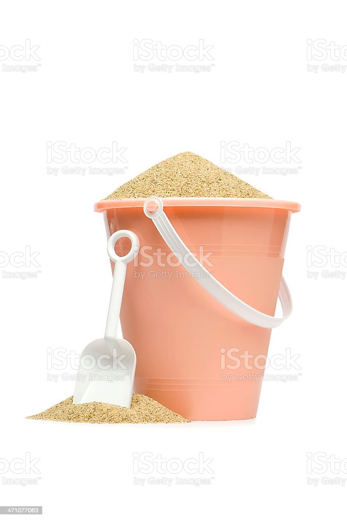 Pink Sand Pail royalty-free stock photo