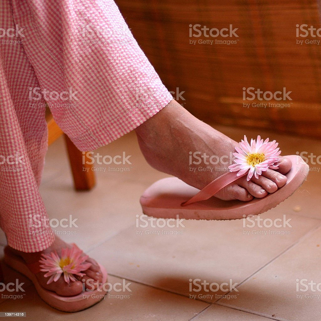 pink sandals royalty-free stock photo