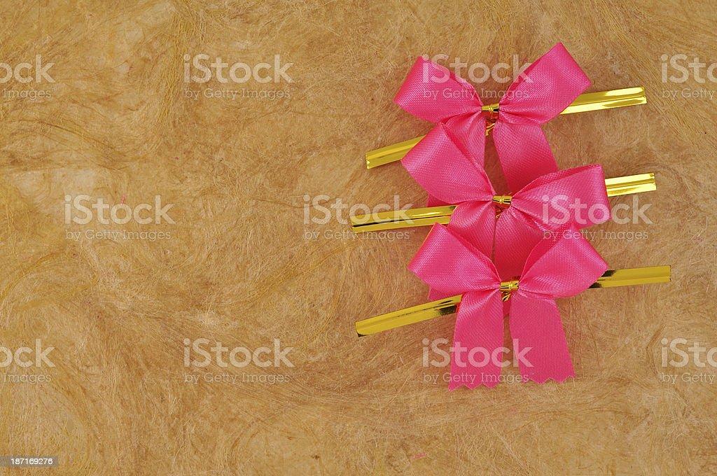 Pink satin ribbon royalty-free stock photo