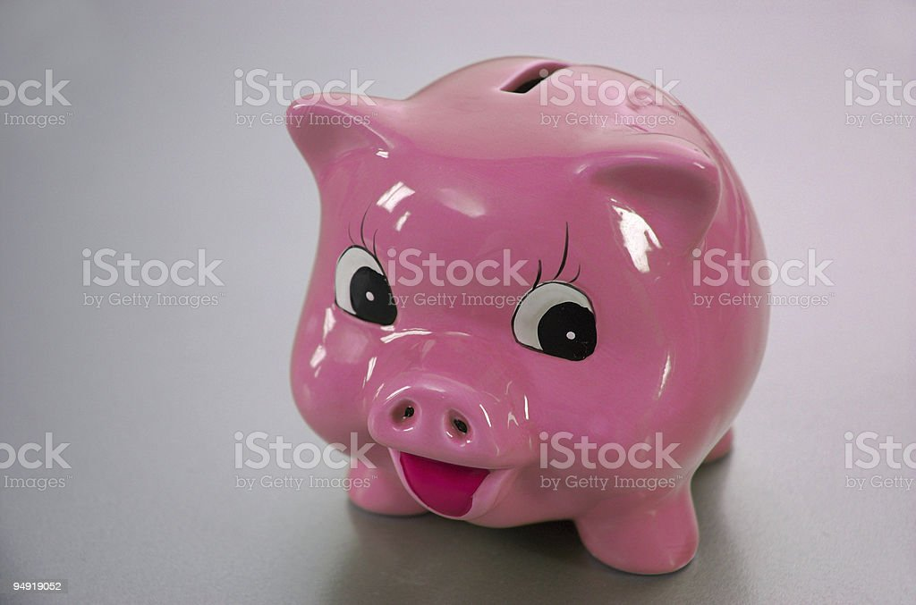 Pink save piggy royalty-free stock photo