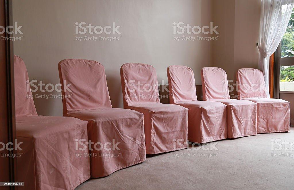 Pink seat cover foto de stock libre de derechos