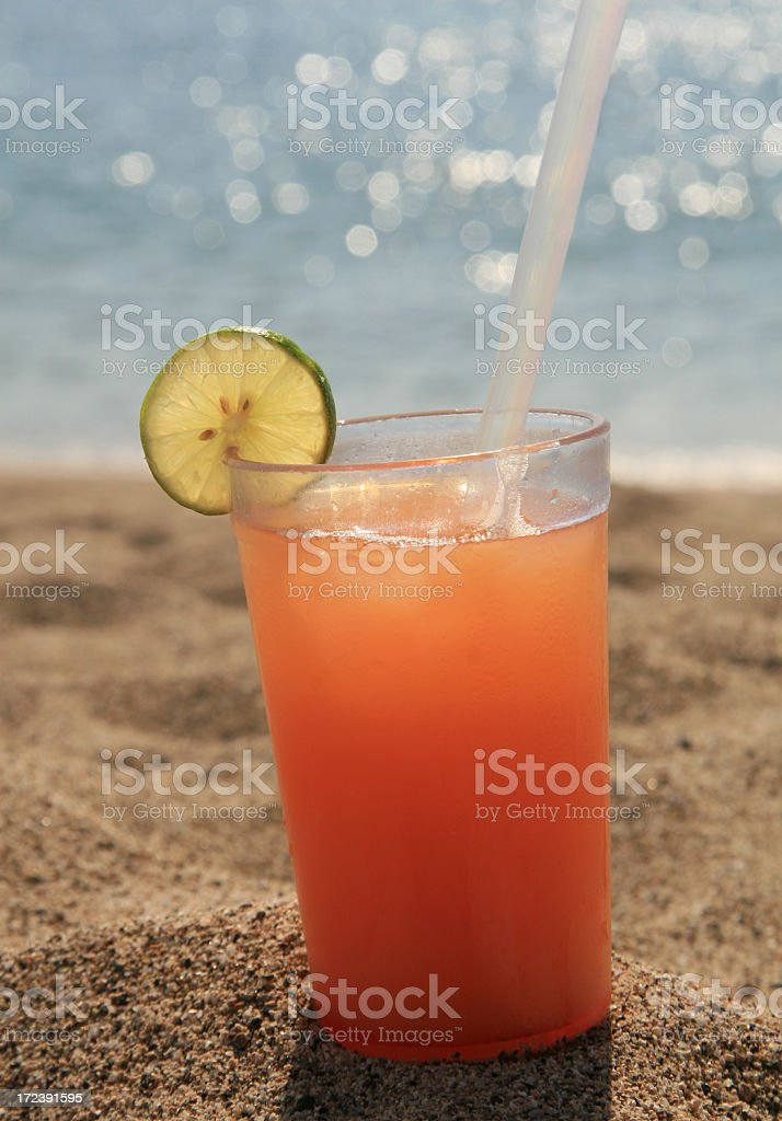 Pink Sex on the Beach Cocktail stock photo