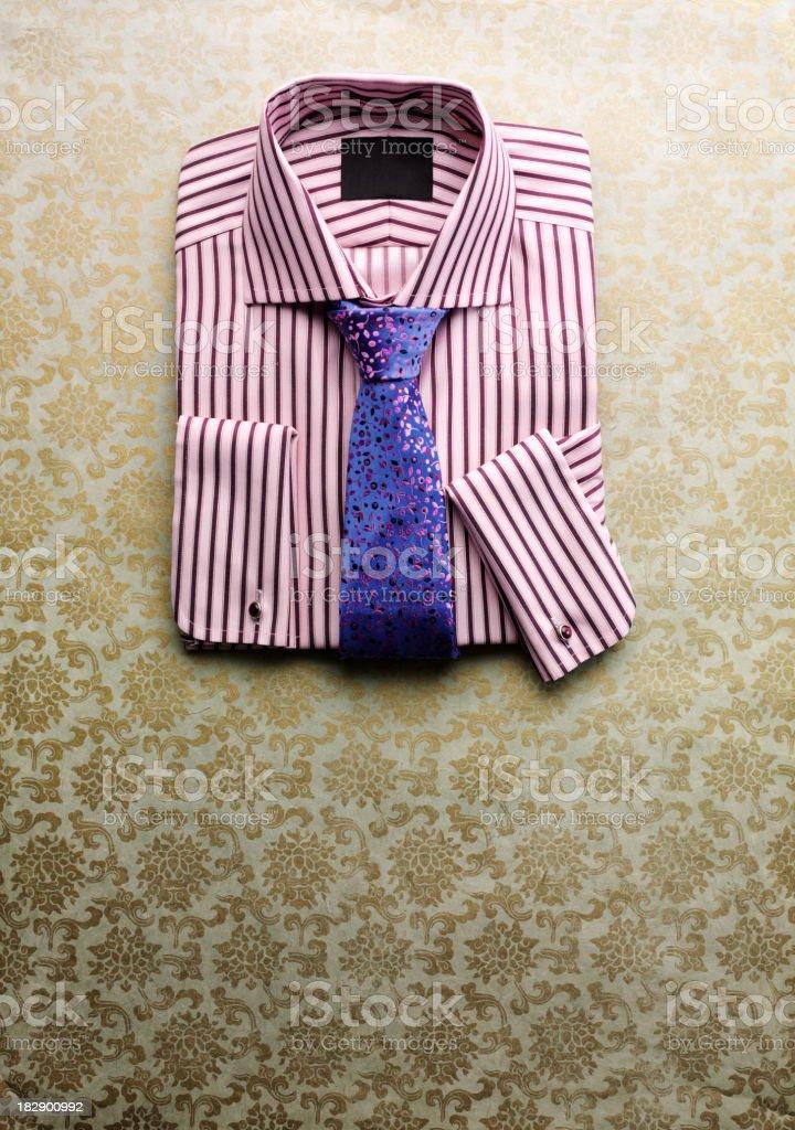 Pink Shirt Purple Tie stock photo