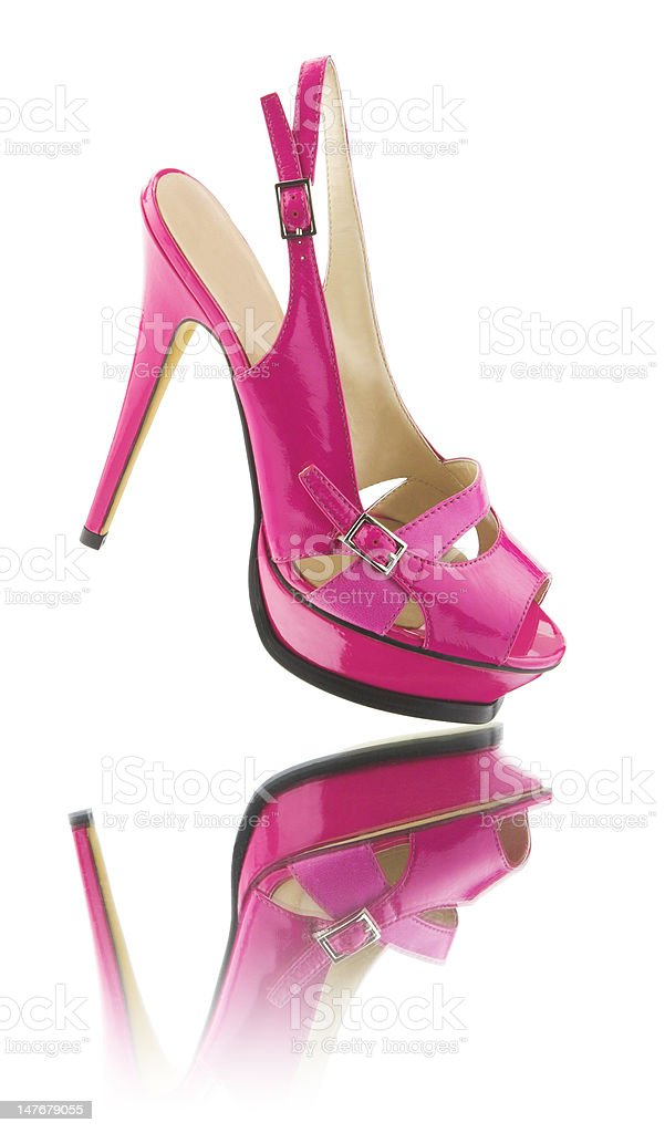 Pink shoe royalty-free stock photo