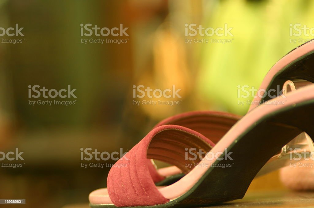Pink shoes royalty-free stock photo