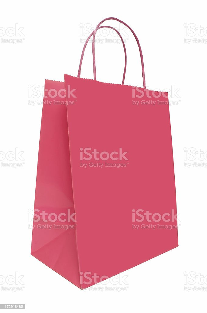 Pink Shopping Bag royalty-free stock photo