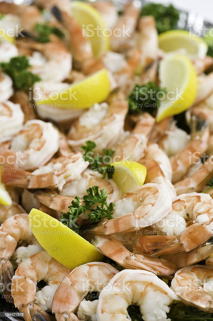 Pink Shrimp Cocktail royalty-free stock photo