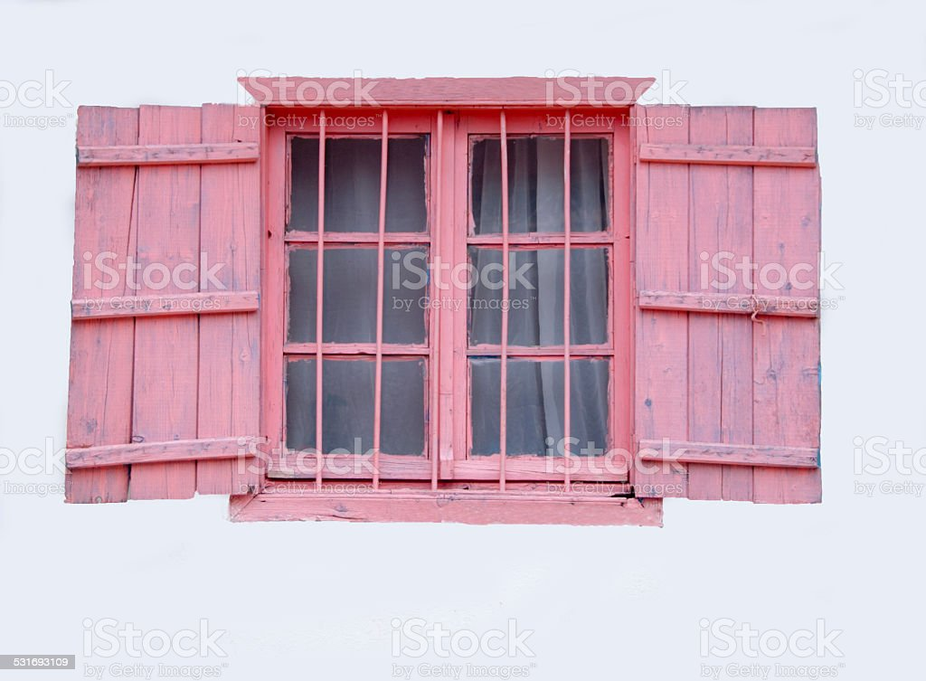 Pink Shutters stock photo