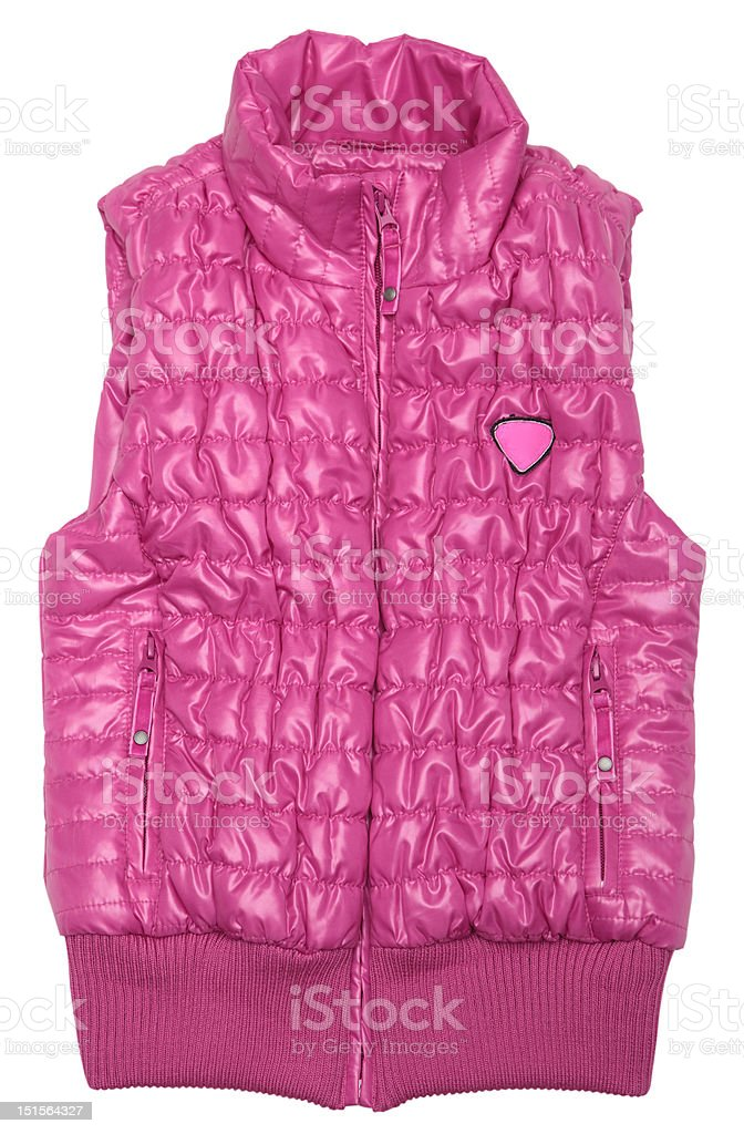 Pink ski vest royalty-free stock photo