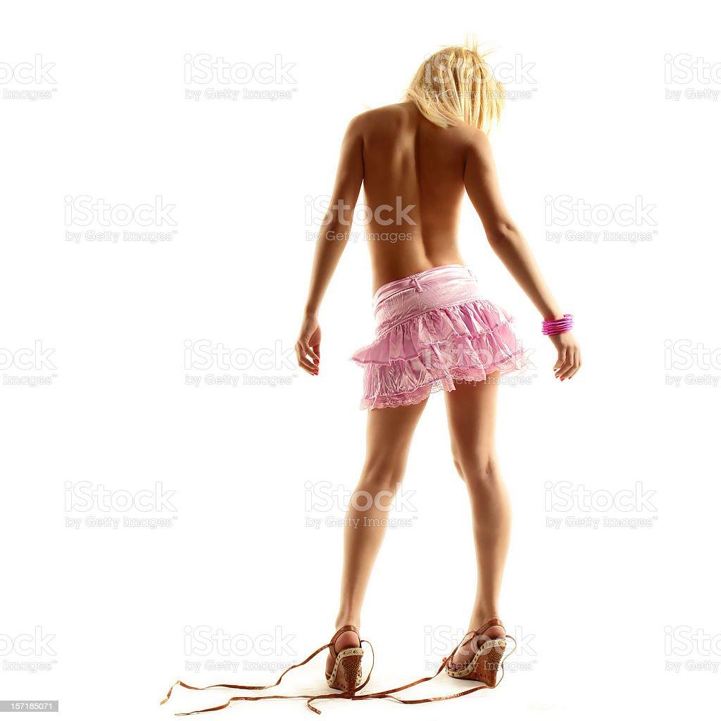 pink skirt girl royalty-free stock photo