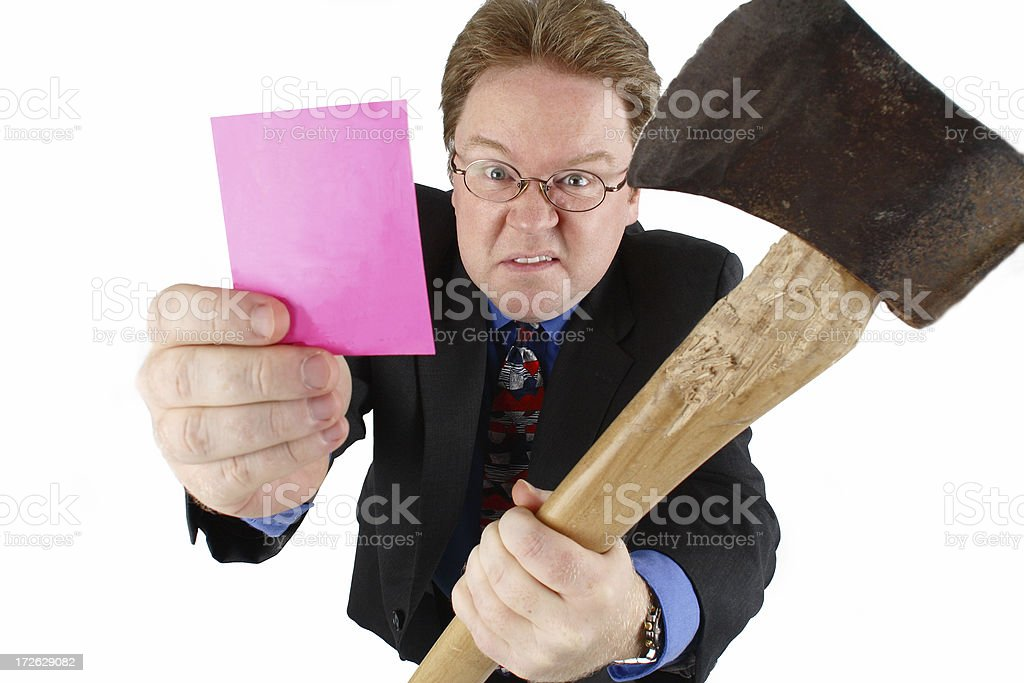 Pink Slip and Getting The Axe royalty-free stock photo