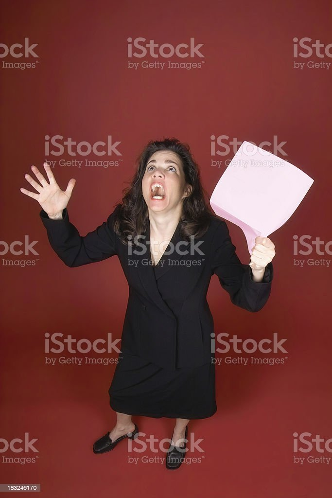 Pink Slip Panic royalty-free stock photo